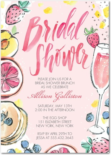 Brunch - Bridal Shower Invitation 8