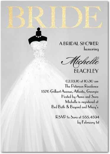 Exquiste Bride - Bridal Shower Invitation 5