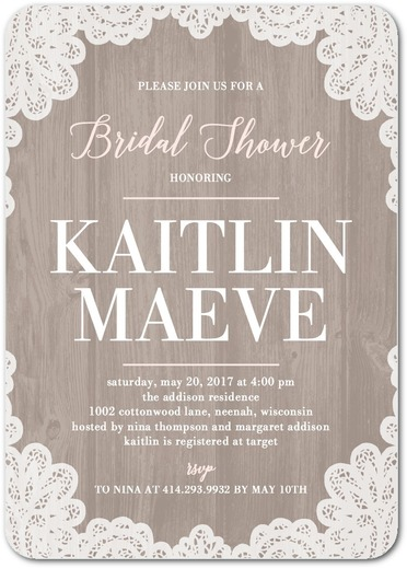 Lacy Bride - Bridal Shower Invitation 3