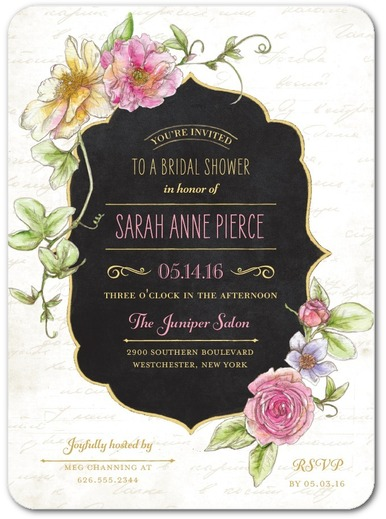 Refined Blossoms - Bridal Shower Invitation 2