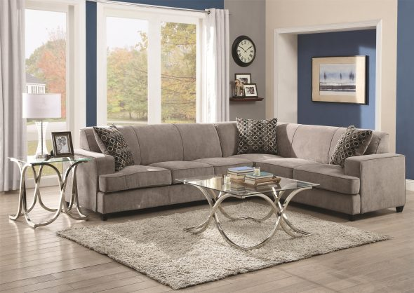 Stationary Sectional Sofa