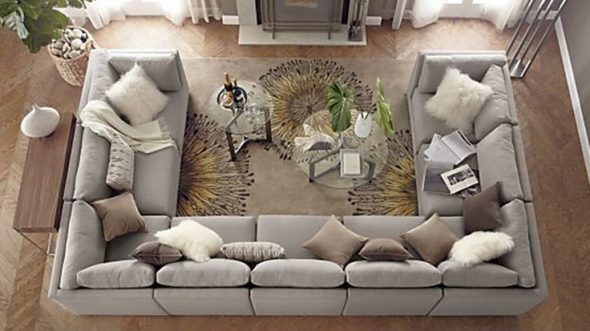U-shaped Sectional Sofa