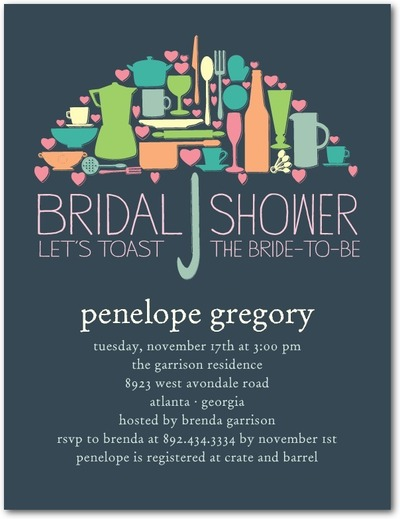 Umbrella - Bridal Invitations 10