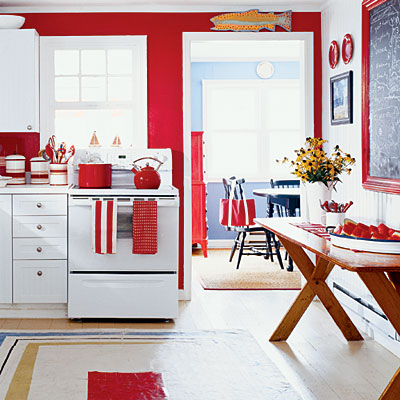 innovative kitchen cabinets red walls | Color Trends 2013: RED