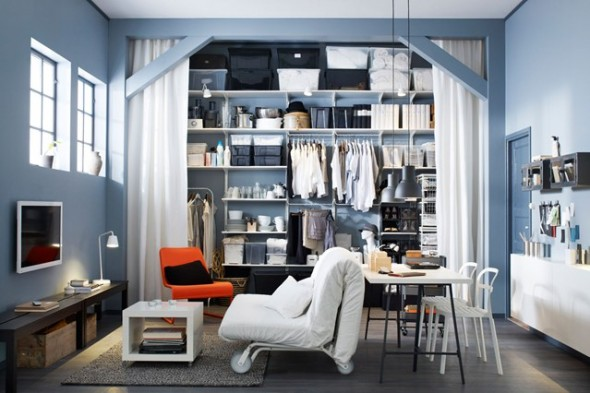 Ikea Are Brilliant At Showing Clever Storage Ideas For Small E Book Shelves Along The Perimeter Of A Bedroom Is Smart Solution To Problems