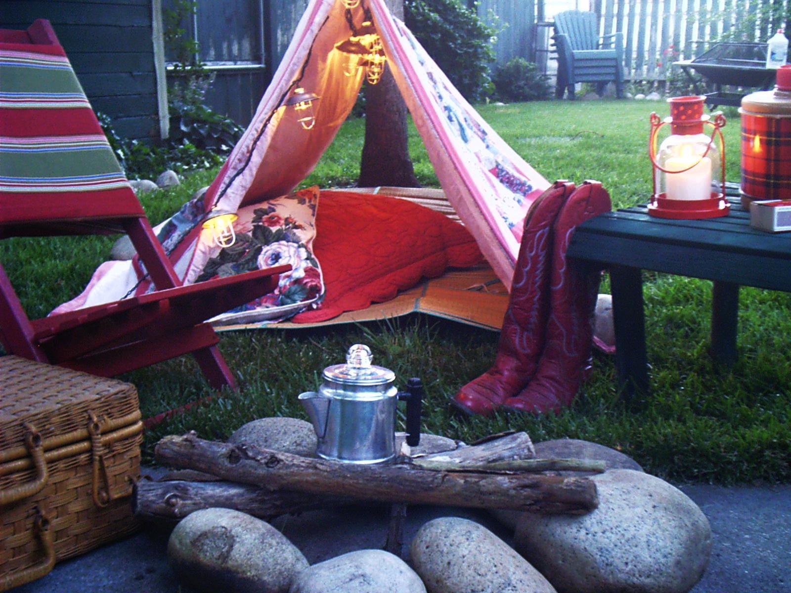 Holiday Ideas - Backyard Camping