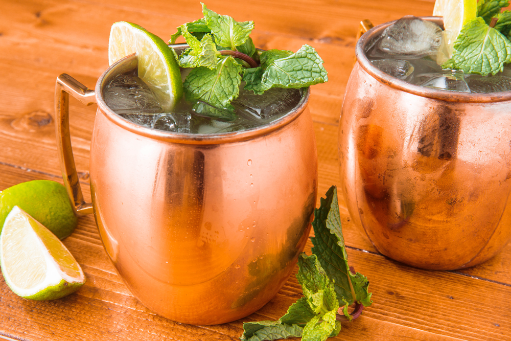 Moscow Mule in Copper Cup