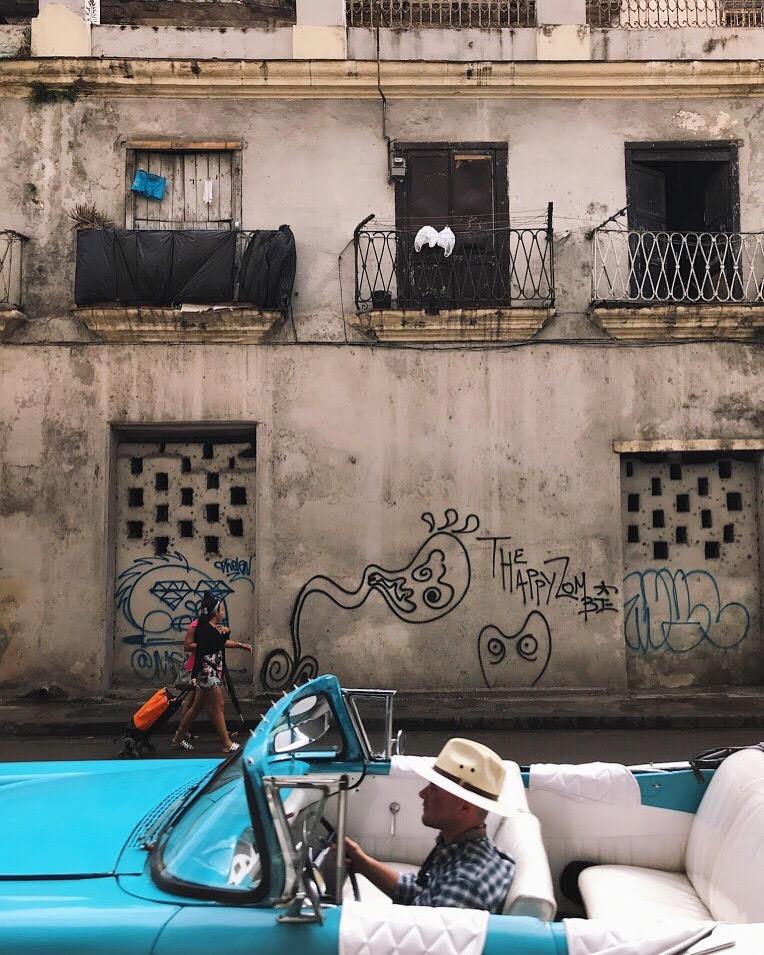 Old Buildings and graffiti in Cuba